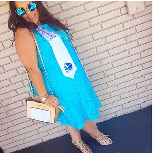 Blue Lace Dress Barn Dress 👗
